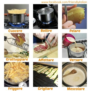 collage verbi cucina