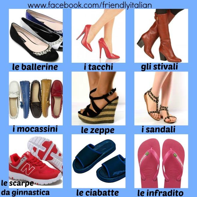 vocaboli scarpe