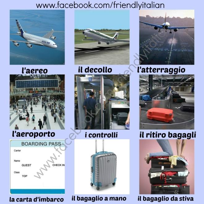 vocaboli dell'aereo